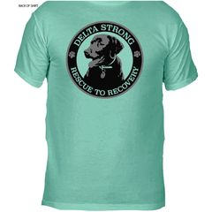 "The Swamp Assassin ""Delta Strong Rescue to Recovery Tee"" (SEAFOAM)"