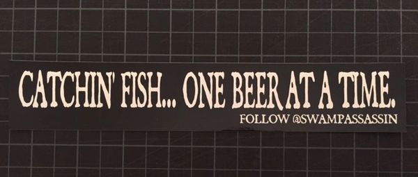 """""""Catchin Fish...One Beer at a Time!"""" Decals"""