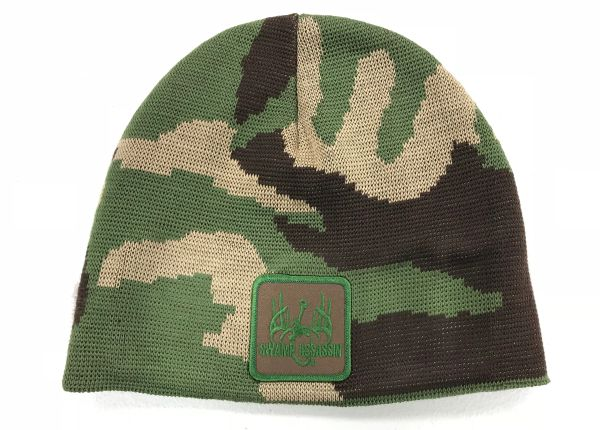 New Swamp Assassin Green/Brown Old School Knit Beanie