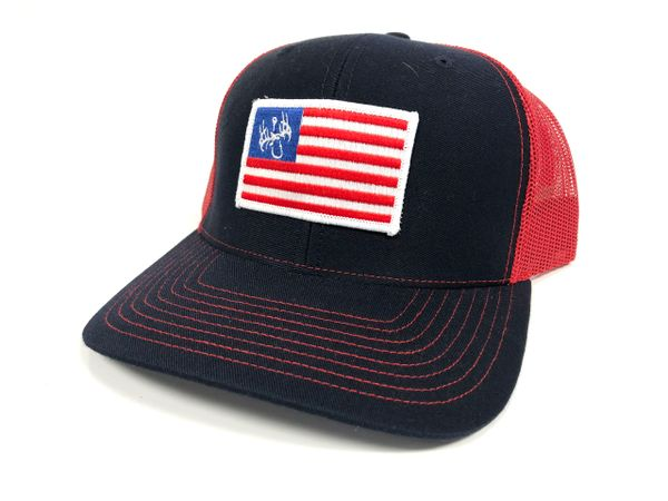 Red White and Blue Liberty Snapback