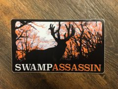 Swamp Assassin Whitetail Timber Decal (ORANGE) 3 inch x 5 Inch