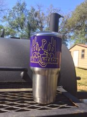 PURPLE & GOLD YETI CUP WRAPS