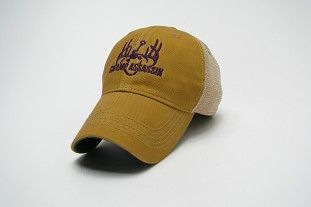 Swamp Assassin Legacy Throwback Mesh Trucker (Gold & Purple)