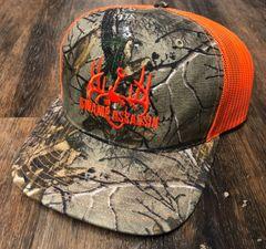 New Swamp Assassin Realtree Extra and Neon Orange Logo Snapback