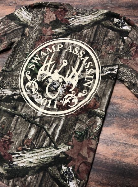 Swamp Assassin Mossy Oak Logo Tee
