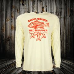 Swamp Assassin Red Snapper Series Dry Fit Performance Fishing Shirt