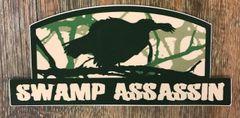 New Swamp Assassin Longbeard Decal Green