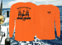 New Swamp Assassin Dry Fit Performance Fishing Tee (Bright Orange)