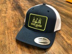 Navy/White BaseballFit Ranch Series Snapback (GreenLimePatch)