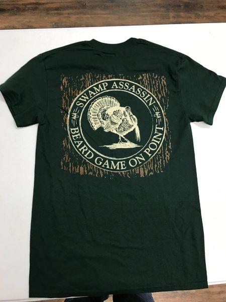 Beard Game on Point Green T-Shirt