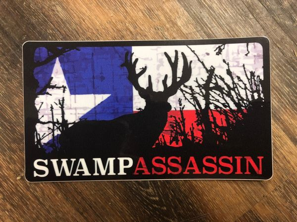 Swamp Assassin Whitetail Timber Decal (TEXASFLAG) 3 inch x 5 Inch