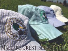 Seersucker Mallard Crest Golf Hat