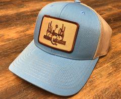 Columbia Blue and Khaki Ranch Series BaseballFit Snapback (Brown/Khaki Patch)