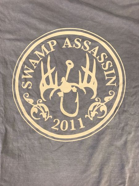 Swamp Assassin Crest In Grey and Tan Comfort Colors T