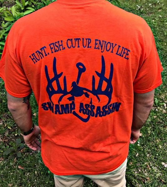 New Orange & Blue Dry Blend Shirts (50/50 Cotton Moisture Wicking Shirts)