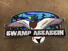 Swamp Assassin Flooded Timber Duck Decal (3x5)