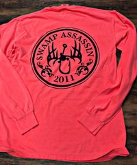 New Comfort Colors Ringspun Cotton Longsleeve Logo Tee Bright Coral