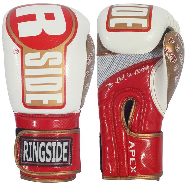 Ringside Apex Red White Gold Boxing Gloves