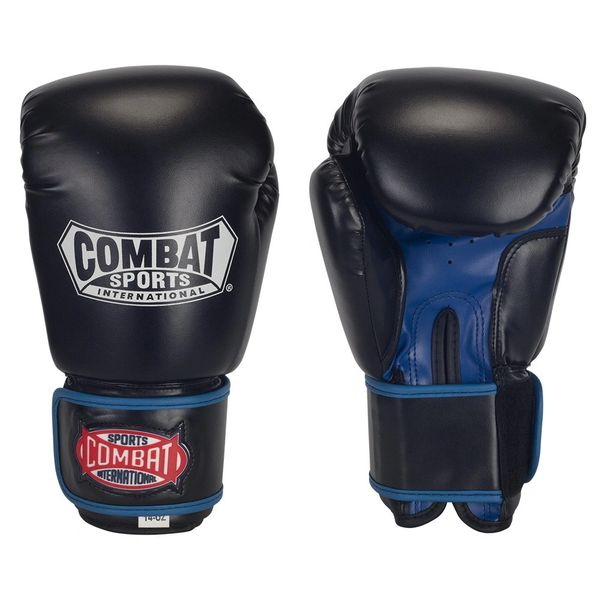 Combat Sports Black/Blue Sparring Gloves