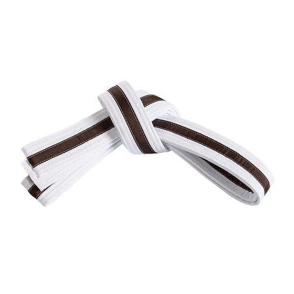 White Belt w/Color Stripe