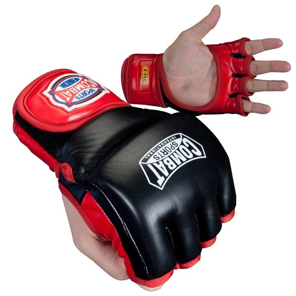 Combat Sports MMA Red/Black Fight Gloves