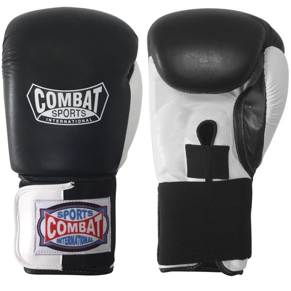 Combat Sports Black & White Sparring Gloves