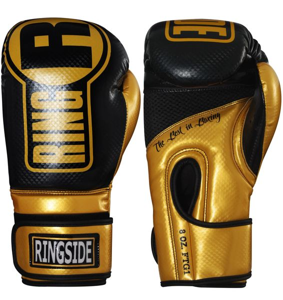 Ringside Apex Gold & Black Gloves