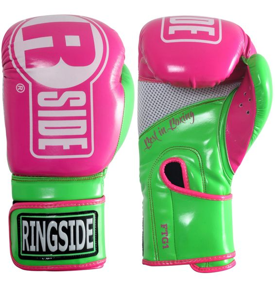 Women's Ringside Apex Pink/Green Boxing Gloves