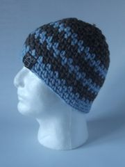 Beanie- Rustic and Light Blue