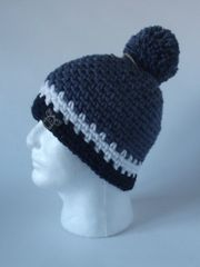 Toque- Denim, White and Navy