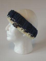 Headband - Navy and Cream