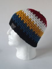 Beanie- Black, Red, White, Yellow and Blue