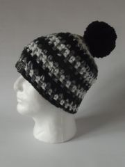 Toque - Black, White and Grey blend and Black