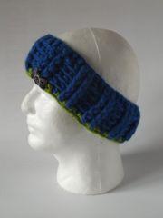 Headband - Royal Blue and Bright Green mix