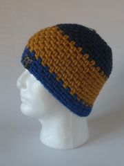 Beanie- Navy, Mustard and Royal Blue