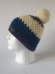 Toque- Purple, Cream and Blue