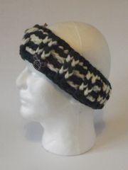 Headband - Pine Green and Cream