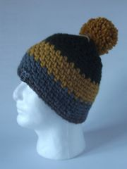 Toque- Forest Green, Mustard, Grey and Rustic