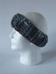 Headband - Light Grey, Dark Grey and Plum blend