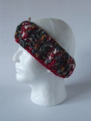 Headband - Red/Cream/Green mix and Red