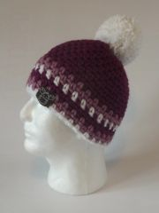 Toque - Fuchsia, Rose and White