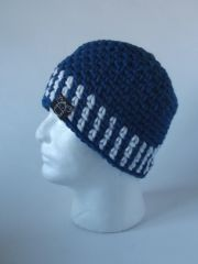 Beanie - Blue and White