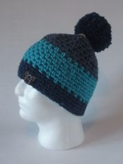 Toque - Denim, Turquoise and Navy