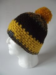 Toque - Green/Yellow mix, Brown and Yellow