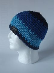 Beanie - Navy, Royal Blue and Sky Blue