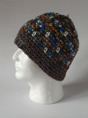 Beanie - Royal Blue/Rustic and Green and Rustic