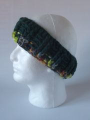 Headband- Pine Green and Pine Green, Bright Green mix