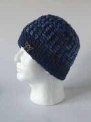 Beanie- Blue mix and Navy