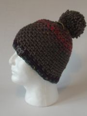 Toque - Teal/Pink/Purple mix, Rustic and Plum