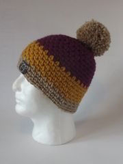 Toque - Fuchsia, Mustard and Beige